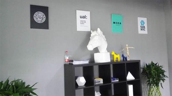 psone国际艺术留学教育公司办公环境